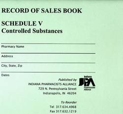 Schedule V Record of Sales Book